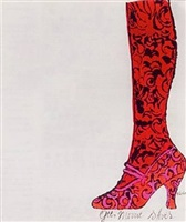 shoe and leg (gee, merrie shoe) by andy warhol