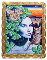 kitty with kittys (kitty brophy) by kenny scharf
