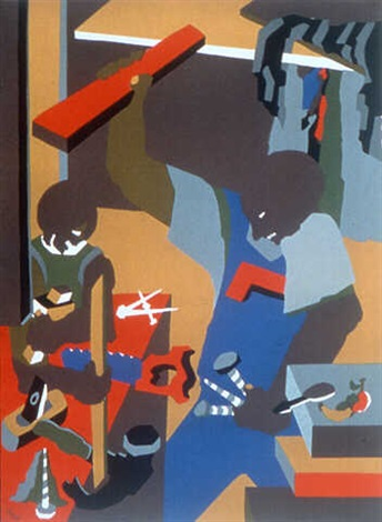 builders iii (print) by jacob lawrence