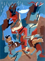 celebration of heritage (print) by jacob lawrence