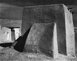 rear of chuch, cordova, new mexico by ansel adams