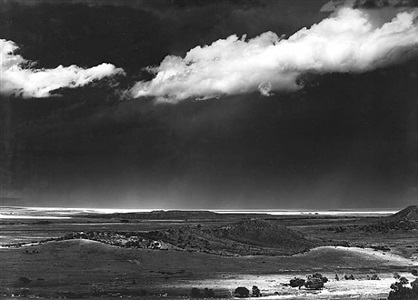 the edge of the great plains, cimmaron, new mexico by ansel adams