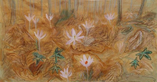 wild crocus wood, sienna by winifred nicholson