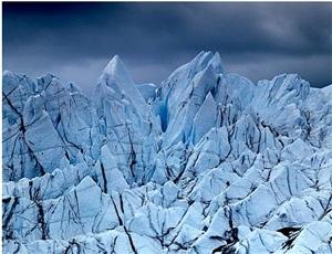 alaska glacier with climber by stephen wilkes