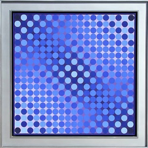 summer art auction by victor vasarely