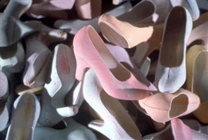 untitled (pile of shoes) by laurie simmons