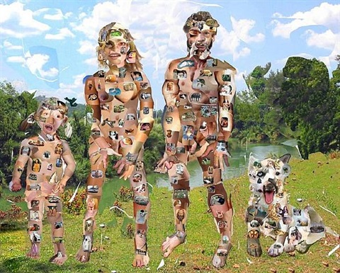 collage family by olaf breuning
