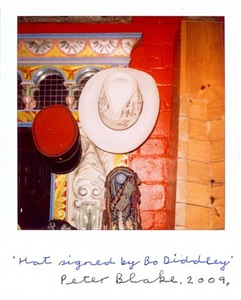 hat signed by bo diddley by peter blake