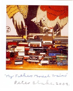 my fathers model trains by peter blake