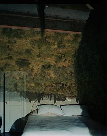 camera obscura: view of landscape outside florence looking east toward, where galileo lived, italy by abelardo morell