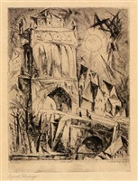 das tor (the gate) by lyonel feininger