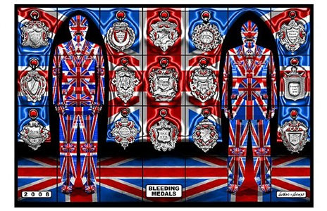 bleeding medals by gilbert & george
