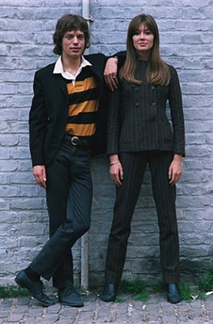 Francoise Hardy and Mick Jagger, London by Jean-Marie ...