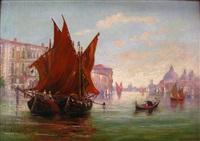 venetian scene by augusto acores