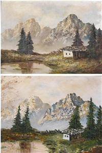dutch landscape (2 works) by sylvester kaarst