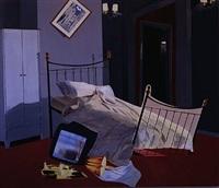 room 100, chelsea hotel by dexter dalwood