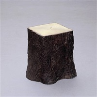 square tree trunk stool ii by bo young jung & emmanuel wolfs