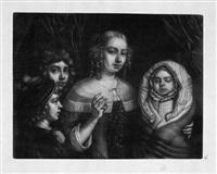 porträt einer jungen frau mit drei kindern by wallerant vaillant