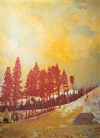 orange sunshine by peter doig