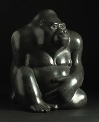 seated gorilla by michael cooper