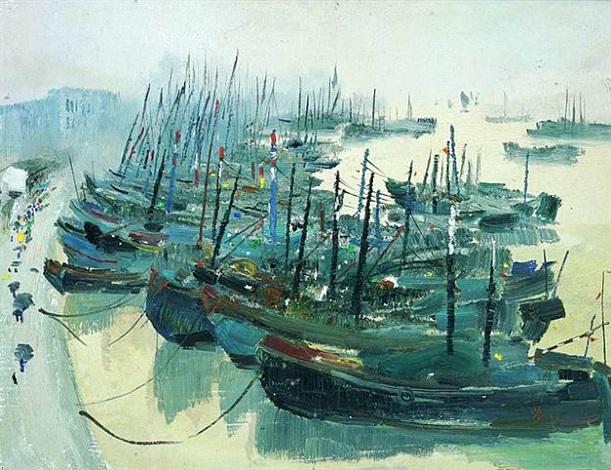 zhoushan harbour by wu guanzhong