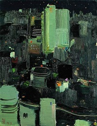 toyko at night by wu guanzhong