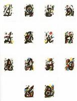 la melodie acide (suite of 14 original lithographs) by joan miró