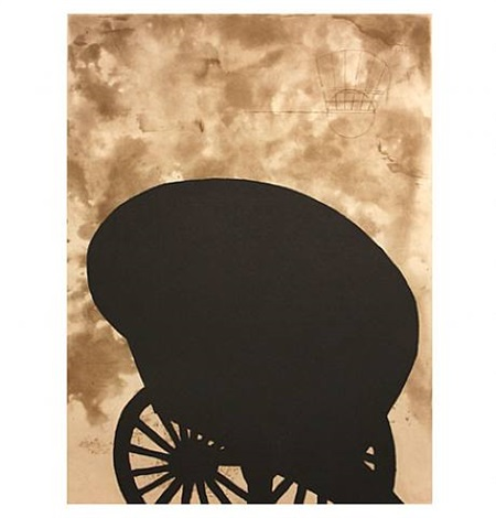 black cart by martin puryear