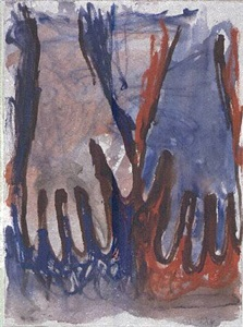 ohne titel (hände). 6.x.84. by georg baselitz