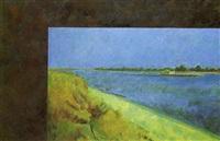 i.kabakov, landscape with a barge, 1972 by ilya & emilia kabakov