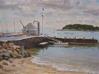 low tide at the madison beach club (sold) by lou bonamarte