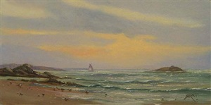 early morning sky (sold) by yves parent