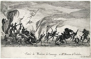 le combat a la barriere (the combat at the barrier) by jacques callot