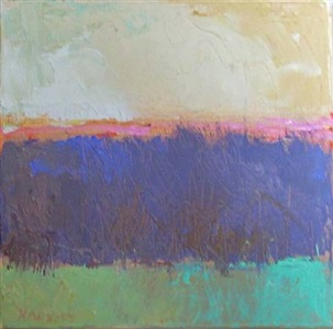 tree series, green and pink by ira barkoff