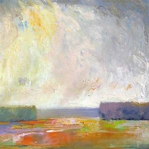 orange field (sold) by ira barkoff