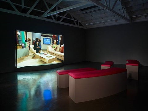 family history; installation view: regen projects ii, 2008 by gillian wearing