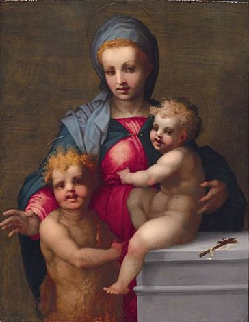 the madonna and child with the infant saint john the baptist by andrea del sarto