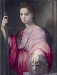 judith with the head of holofernes by domenico puligo