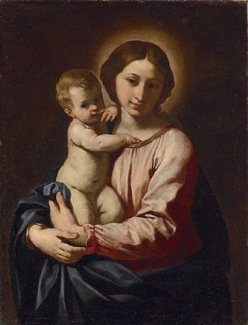 madonna and child by simone cantarini
