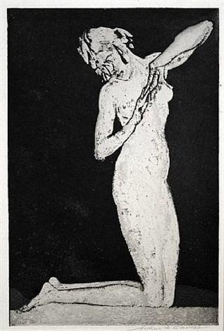 dawn (or, kneeling figure) by arthur bowen davies