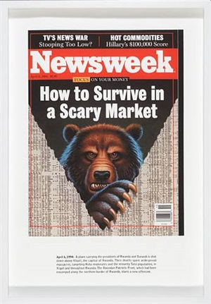 how to survive a scary market (newsweek) by alfredo jaar