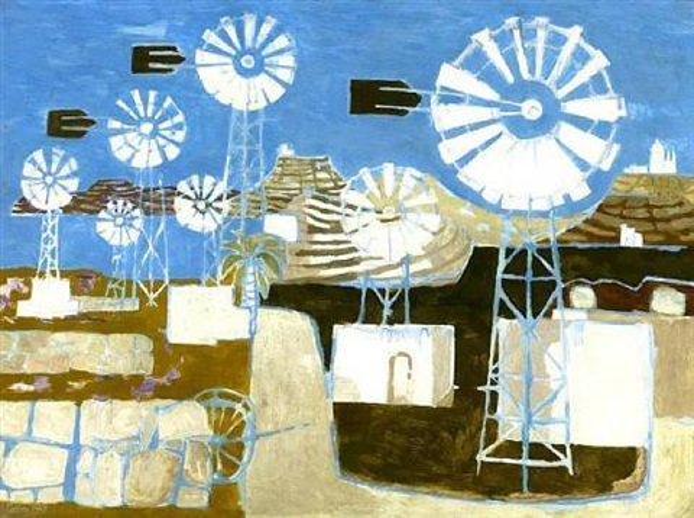 cretan windmills by mary fedden