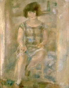 lucy after shampooing by jules pascin