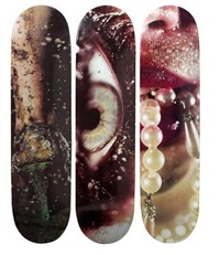 supreme skatedecks (set of 3) by marilyn minter
