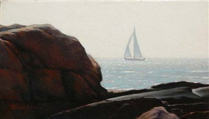 sailing off the coast (sold) by peter bergeron