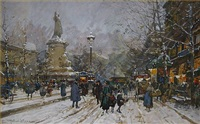 la place de la republique by eugène galien-laloue