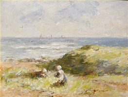 carnoustie bay, summer by robert gemmell hutchison