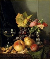 still life of fruit by edward ladell