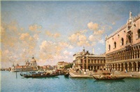 the doges palace and the santa maria della sal by federico del campo