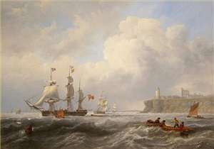 shipping off tynemouth by john wilson carmichael